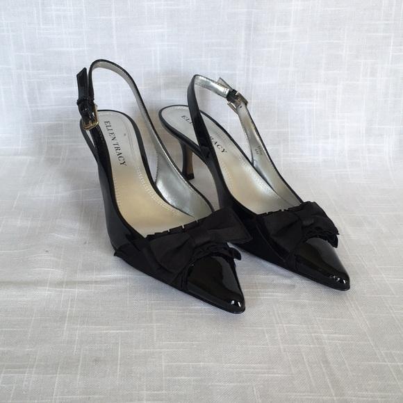 b764be751b Ellen Tracy Shoes | Effie Black Patent Slingbacks | Poshmark